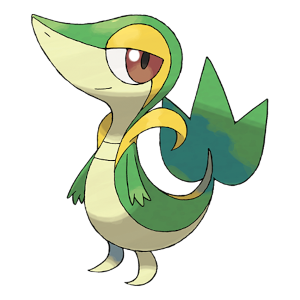 Snivy Official Artwork
