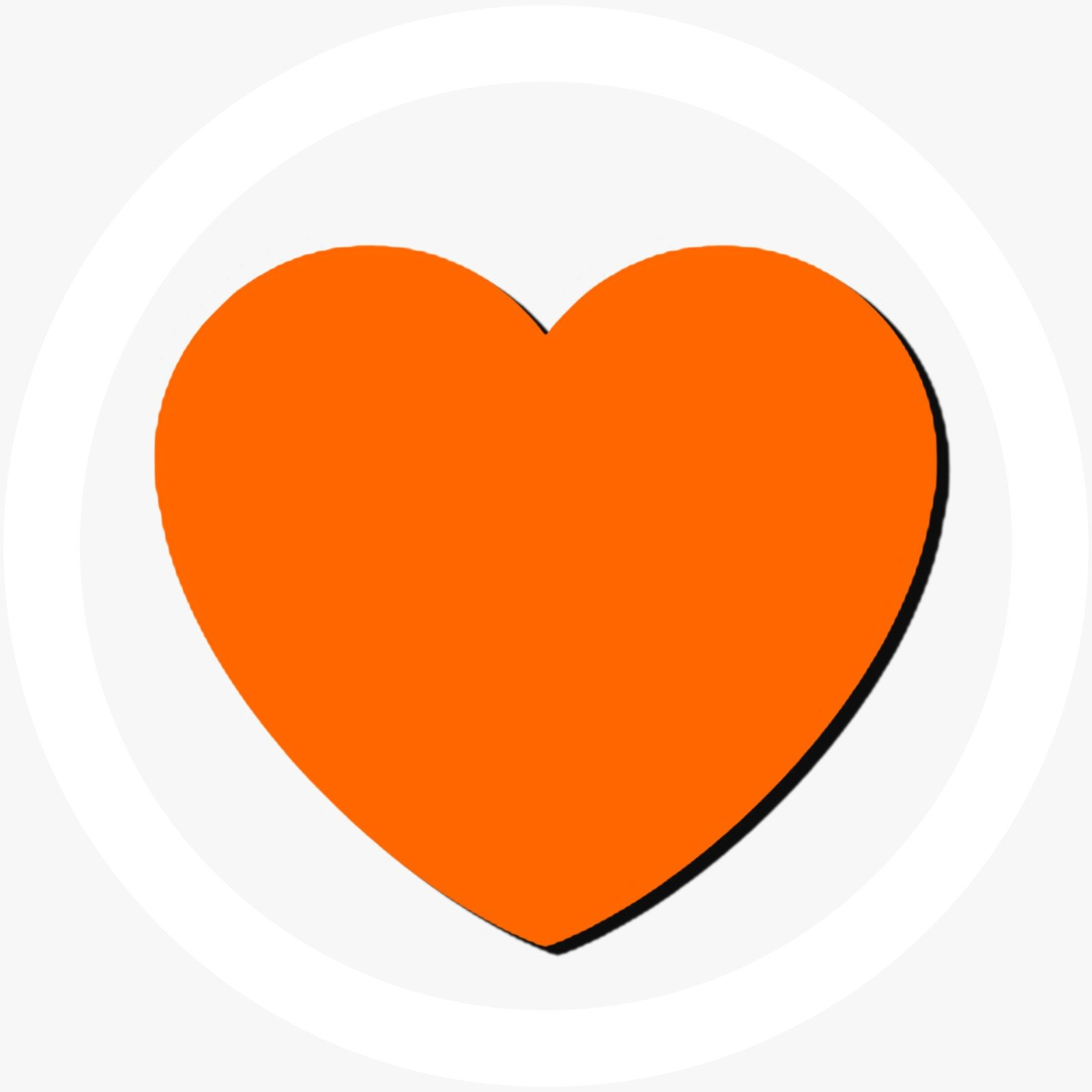Orange Heart Design