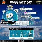 Piplup Community Day Announcement by Orange Heart