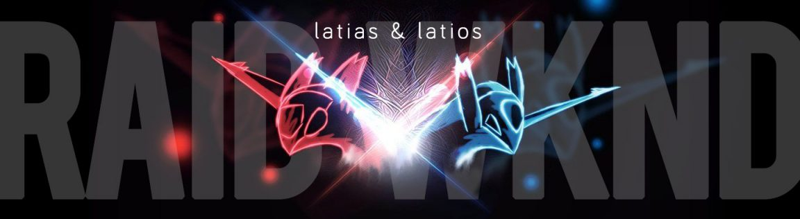 Latias/Latios Raid Weekend Header