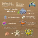Rhyhorn Community Day Infographic - Couple of Gaming