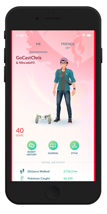 GOCast Chirs Trainer Screen in iPhone