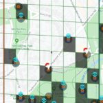 Ingress Map with stops and gyms identified - Atlanta's Piedmont Park
